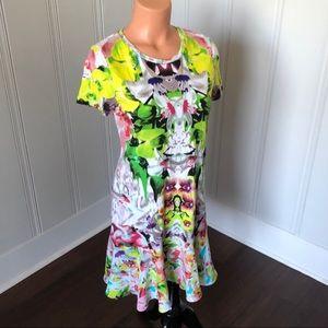 Prabal Gurung Floral Ruffle First Date Dress XS